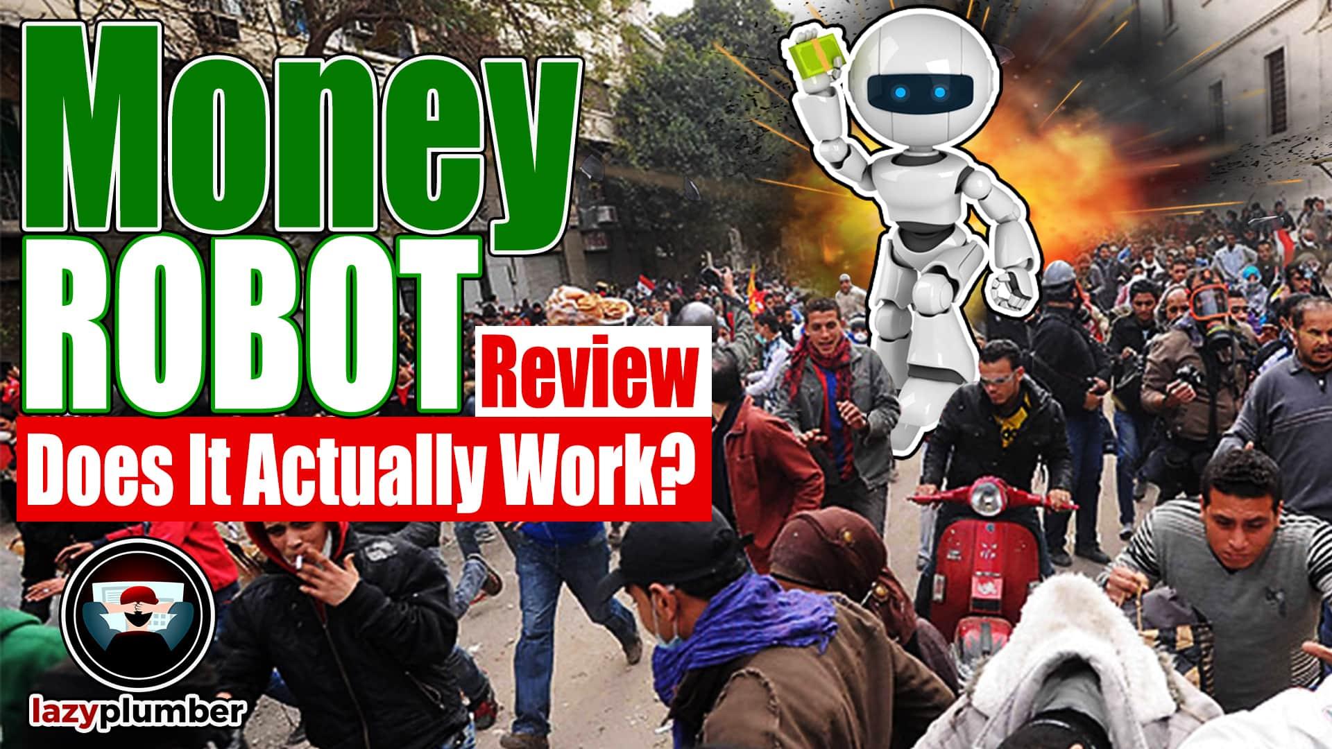 money robot blowing stuff up