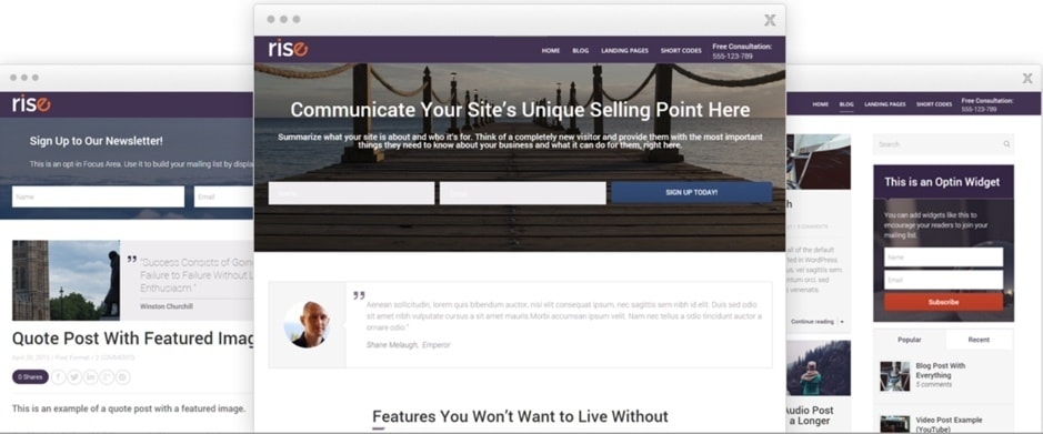 rise affiliate thrive theme