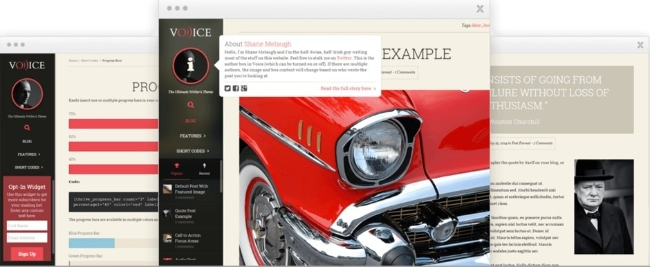 thrive voice wordpress theme