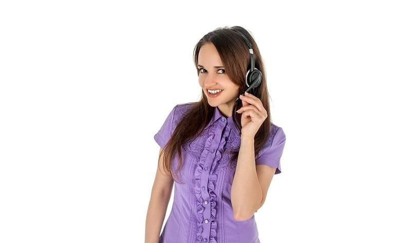 image of call center agent
