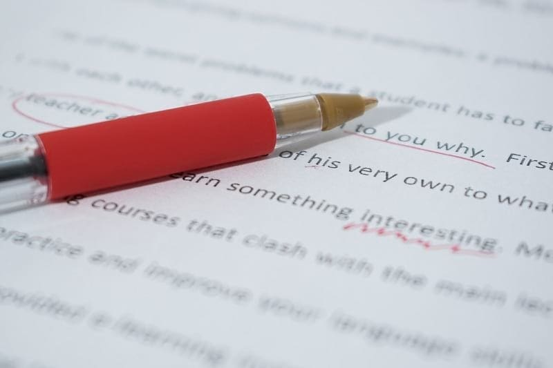 image of editing and proofreading