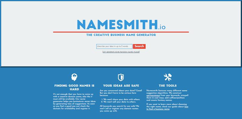 image of Namesmith.io