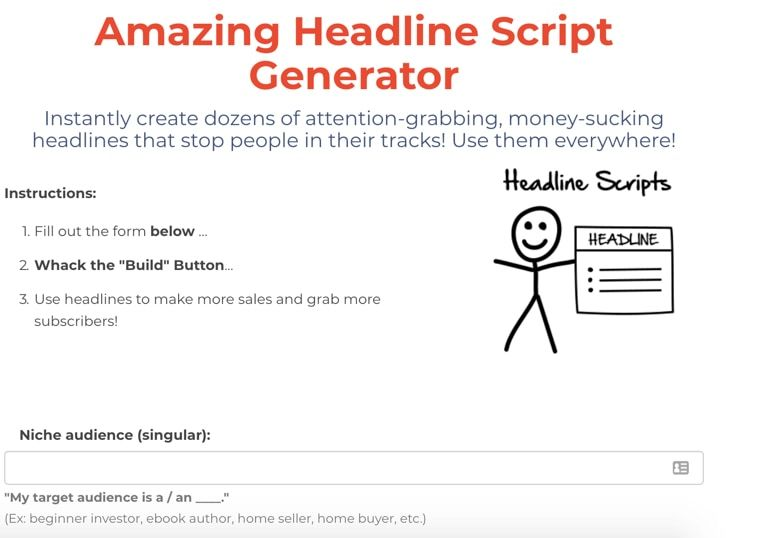 preview of free funnel scripts generator