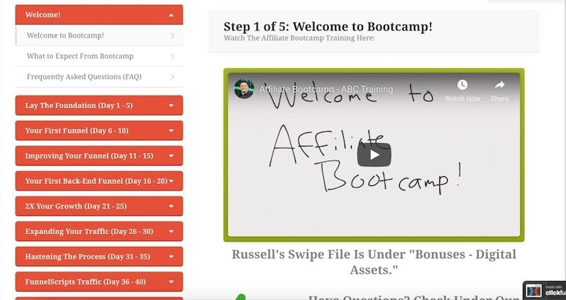 inside affiliate bootcamp summit course
