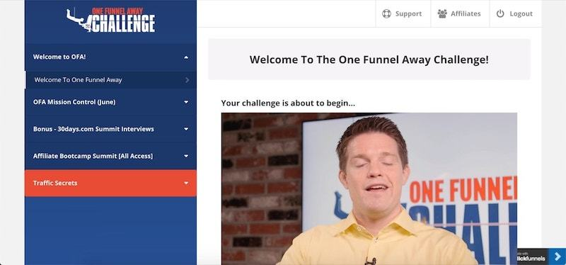 inside one funnel away challenge