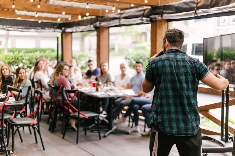 image of public speaking
