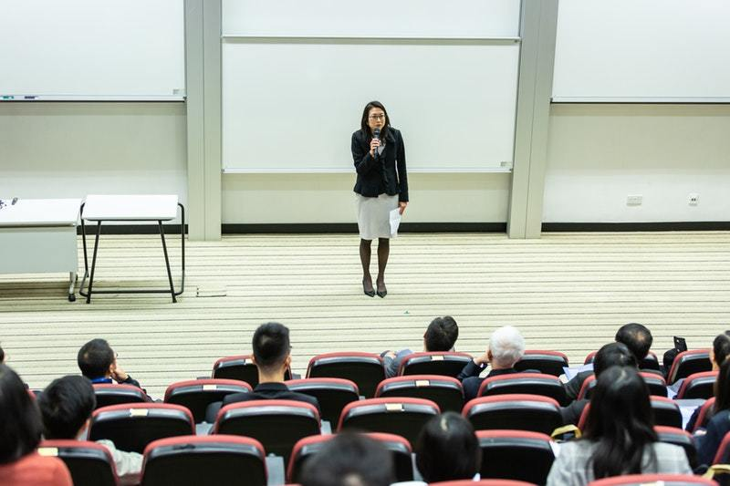 image of lecturing