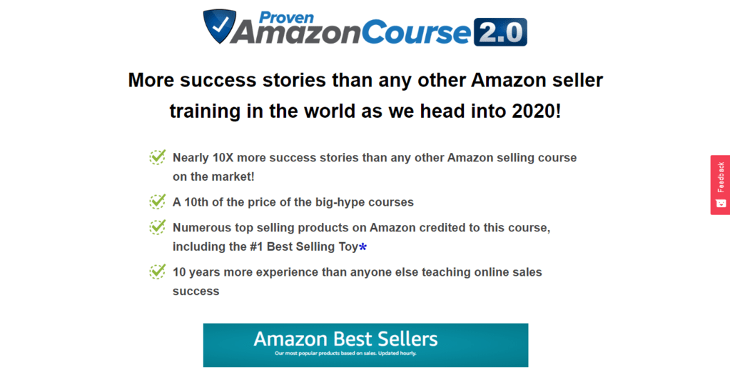 screenshot of proven amazon course