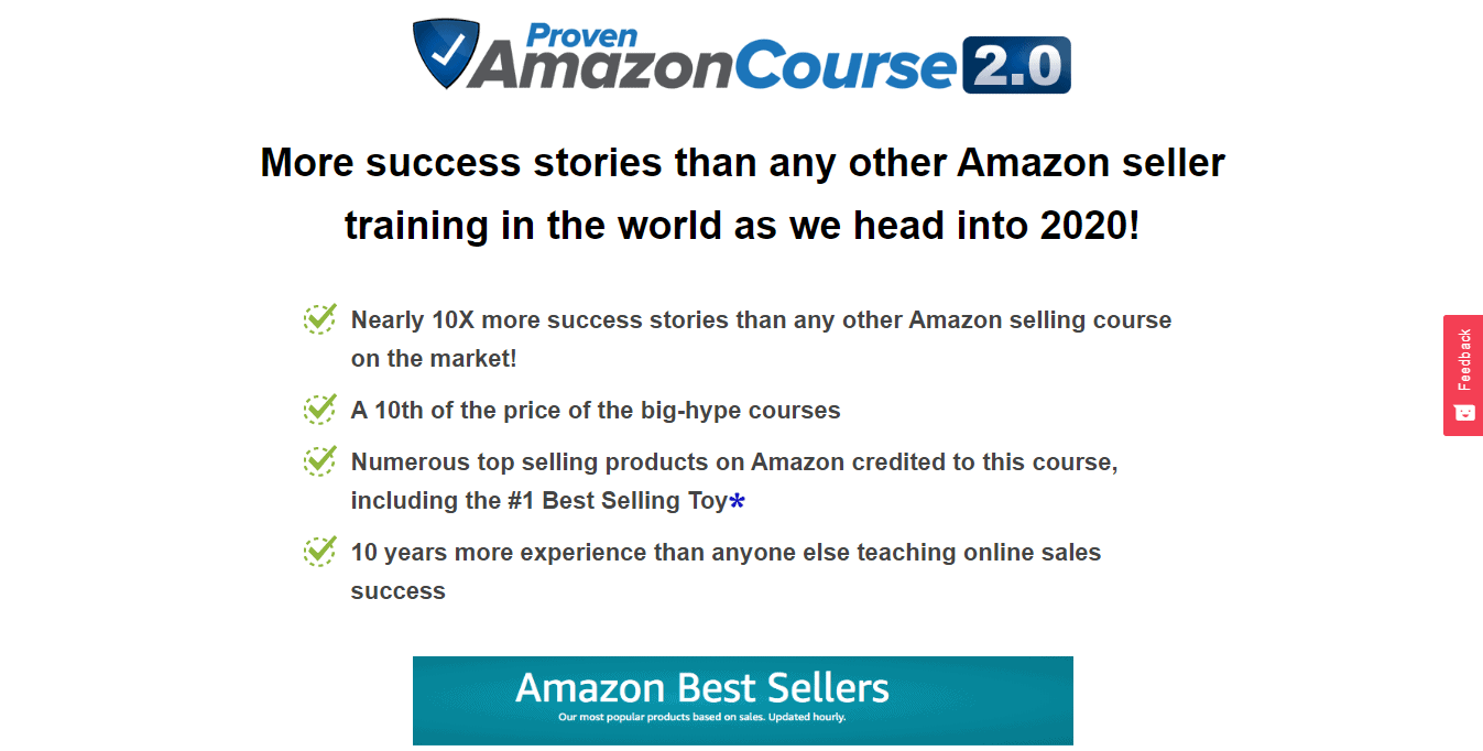 screenshot of proven amazon course