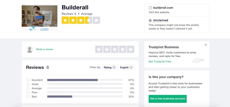 builderall review on trustpilot