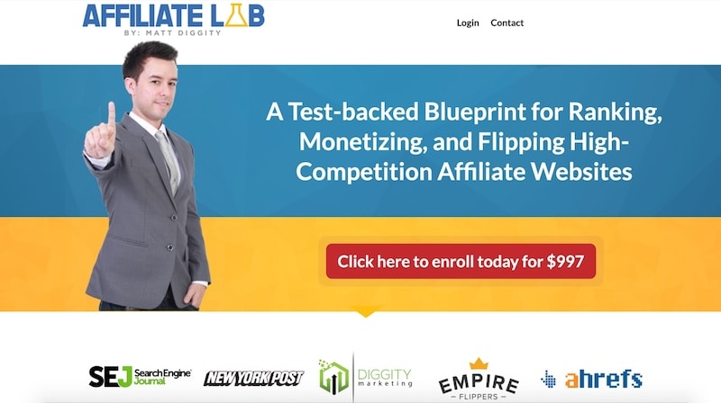 the affiliate lab homepage