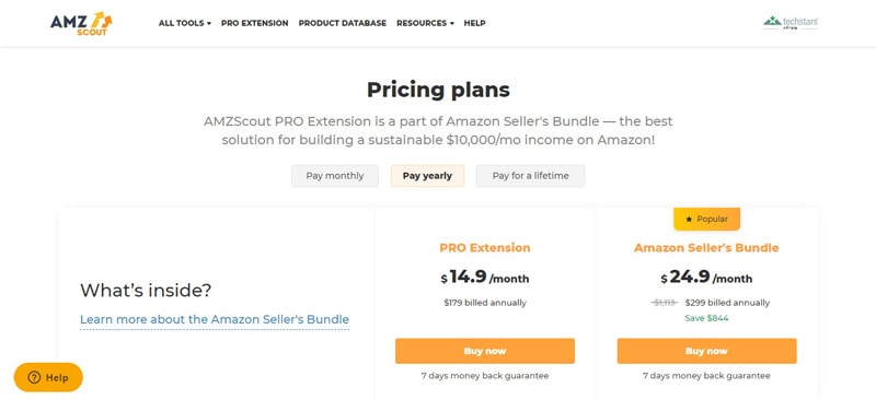 amzscout review pricing